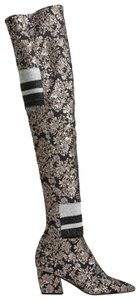 Pierre Hardy Pointed Toe Stretch Floral Black Boots