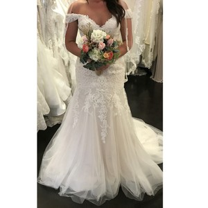 Maggie Sottero Ivory Lace Embrace Modern Wedding Dress Size 14 (L)