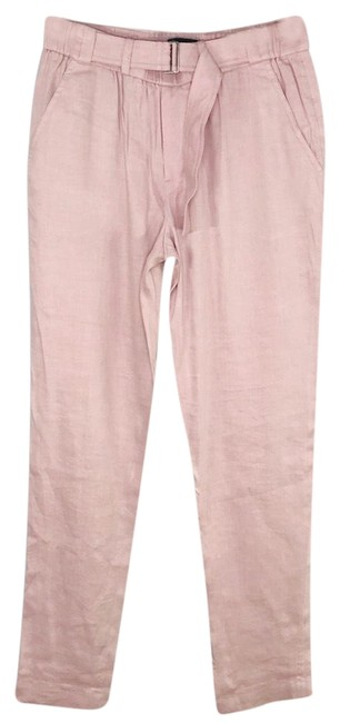 Item - Blush High Waisted Belted Linen Blend Pants Size 4 (S, 27)