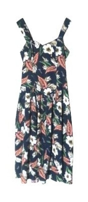Navy with floral print Maxi Dress by Urban Outfitters