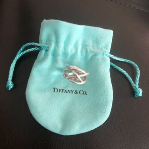Tiffany & Co. tiffany and co braided Celtic knot weave criss cross ring sterling silver