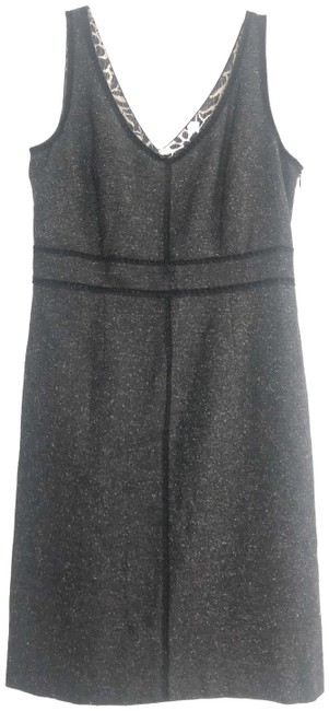 Item - Gray Black Wool Blend Sheath Short Work/Office Dress Size 6 (S)
