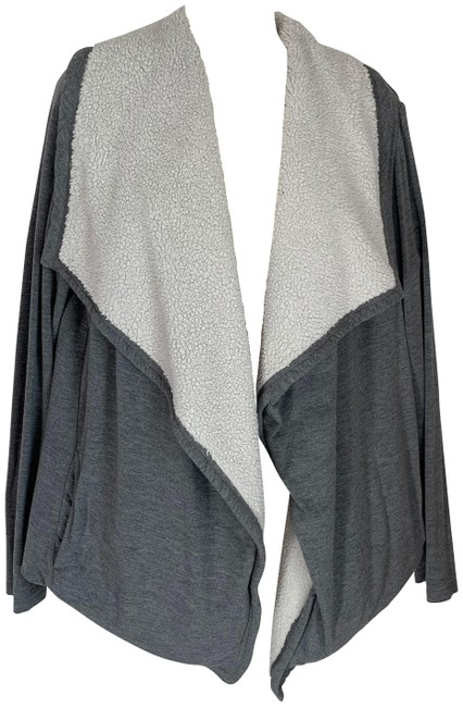 Item - Gray Shawl Collar Cardigan Size 4 (S)