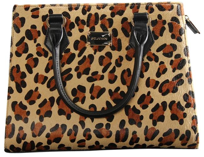 Item - Leopard Print Auburn Multi Leather Shoulder Bag