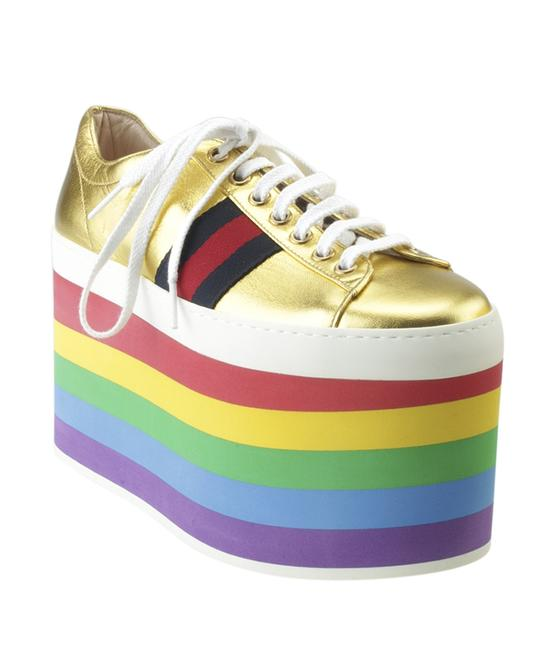 Item - Gold Peggy Black Leather Sneakersx (171354) Flats Size US 6 Regular (M, B)