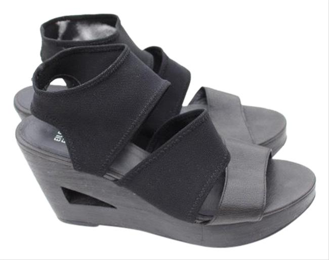 Item - Black Sandals Wedges Size US 11 Regular (M, B)
