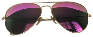Ray-Ban Aviator 112/4T 58mm Gold Frame Hot Pink Lens
