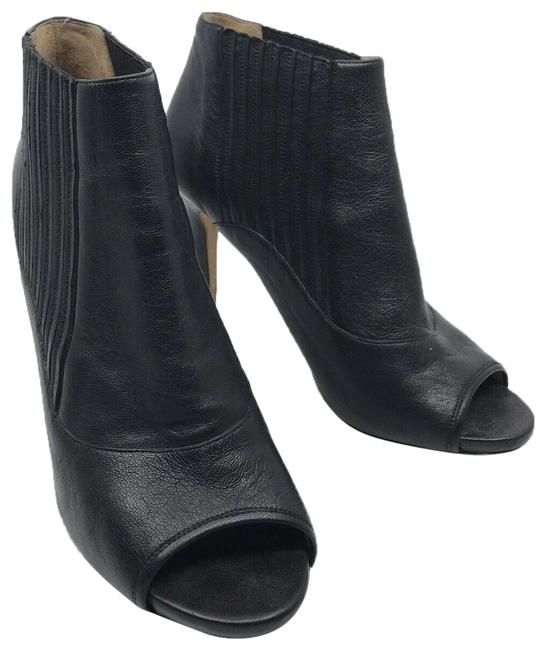 Item - Black Peep Toe Booties Wedges Size US 9.5 Regular (M, B)