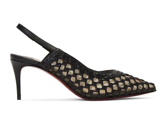 Item - Black Cage and Sling 70mm Mesh Sling Stiletto Pumps Size EU 36 (Approx. US 6) Regular (M, B)