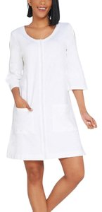 Denim & Co. Denim & Co. Beach French Terry Cover-Up with Slit Sleeve Detail