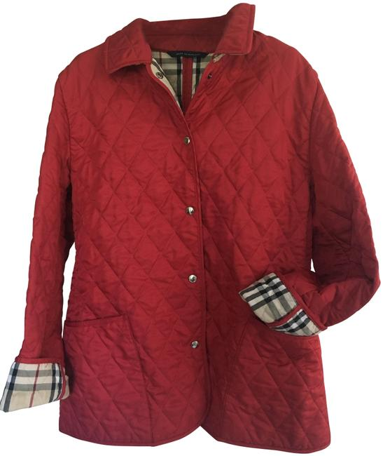 Item - Cadet Red London Classic Quilted Nova Check Lining Jacket Size 8 (M)