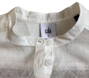 CAbi Lace Shirt Lace Shirt Top White