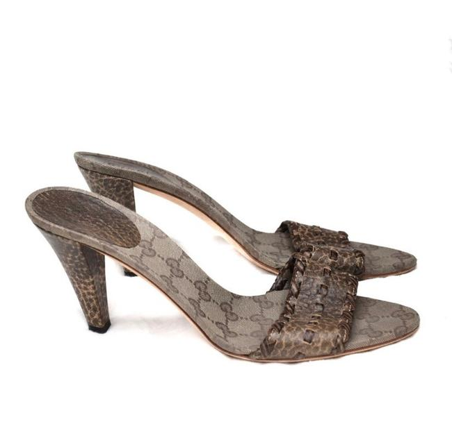 Item - Brown Monogram Pebble Leather Heels 39.5 Pumps Size US 9 Regular (M, B)