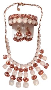 Charter Club NWT Charter Club Necklace, Bracelet, Earring Set in Multi Pink Stones