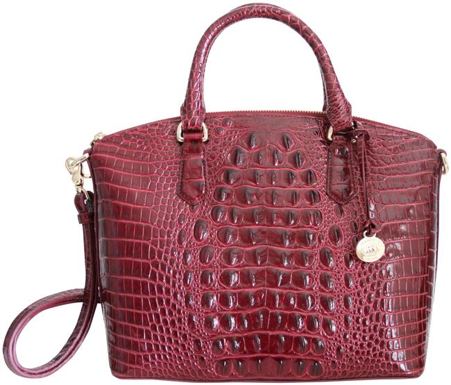 Item - Duxbury Textured Cranberry Melbourne Red Leather Satchel