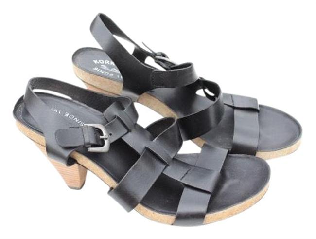 Item - Black Leather Buckle Sandals Size US 11 Regular (M, B)