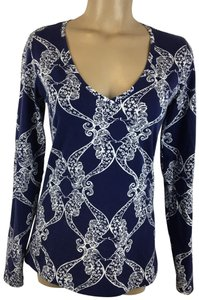 Lilly Pulitzer Top Blue & White