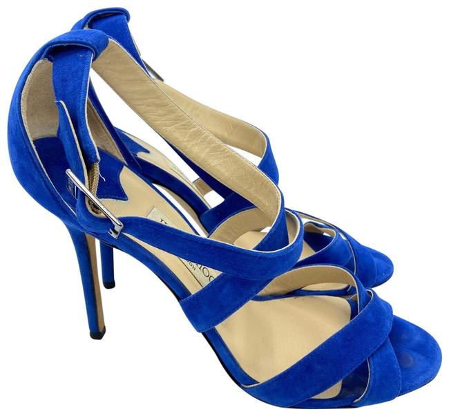 Item - Blue Strappy Suede Sandals Size EU 40.5 (Approx. US 10.5) Regular (M, B)