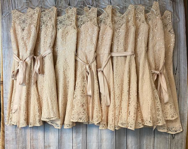 Item - Pink Cotton Lot Of 10 Lace To 8 Casual Bridesmaid/Mob Dress Size OS (one size)