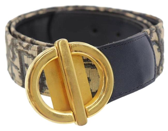 Item - Blue Trotter Print/Gold Cd Print/Leather with Buckle Belt