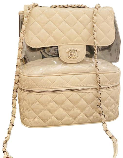 Item - White/Off White/ Off White with Silver Hardware Lambskin Leather Shoulder Bag