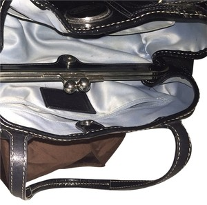 Coach Satchel in Black Leather