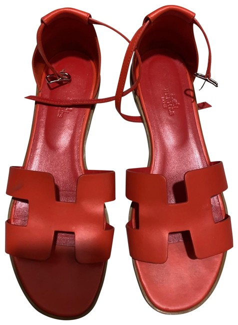 Item - Orange Santorini Sandals Size EU 40 (Approx. US 10) Regular (M, B)