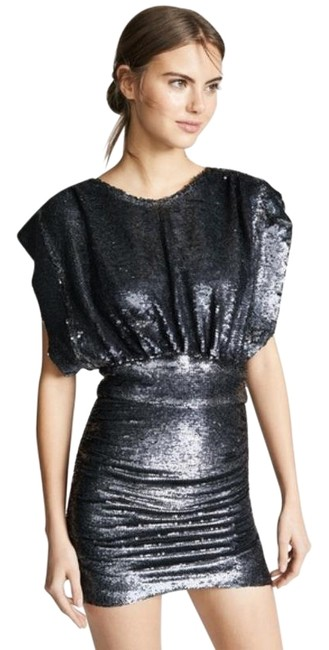 Item - Miracle Dress In Anthracite Sequin Gray Silver Sweater