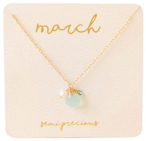 Francesca's Francesca's collections March birthstone charm necklace