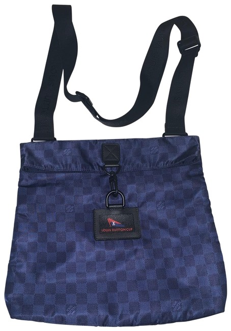 Item - Pochette Damier Cup Blue Nylon Messenger Bag