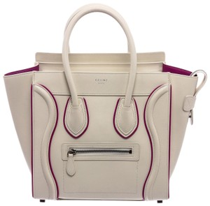 Céline Tote in White and Purple