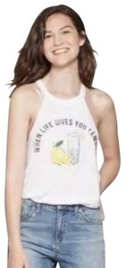 Modern Lux Modern Lux - Women's When Life Gives You Lemons High Neck Graph White