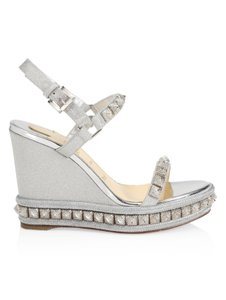 Christian Louboutin Silver Sandals