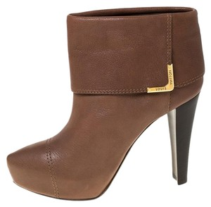 Louis Vuitton Leather Ankle Brown Boots