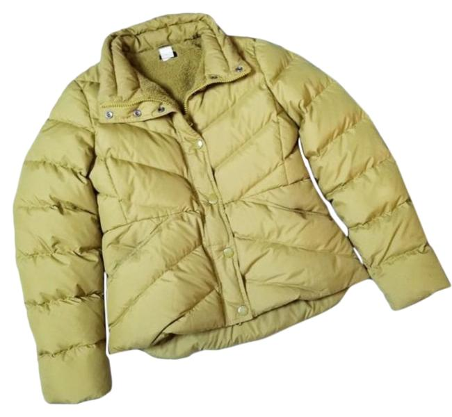 Item - Green Lime Down Filled Sherpa Puffer Coat Size 10 (M)