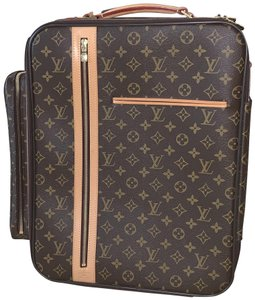 Louis Vuitton Rolling Luggage Bosphore Trolley 50 Carry On Monogram Brown Travel Bag