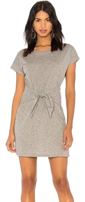 Item - Gray Alyra Large Heather Short Casual Maxi Dress Size 12 (L)