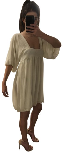 Item - Ivory Sleeved Bubble Short Night Out Dress Size OS (one size)