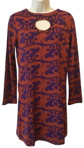 Tracy Negoshian short dress Red & Purple Damask on Tradesy