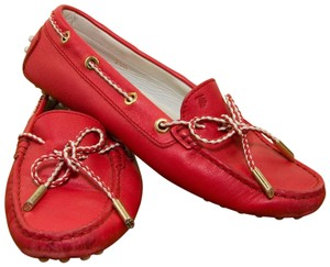 Tod's Drive Mocassino Leather Hot Pink Flats