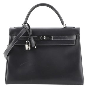 Hermès Leather Tote in Gray