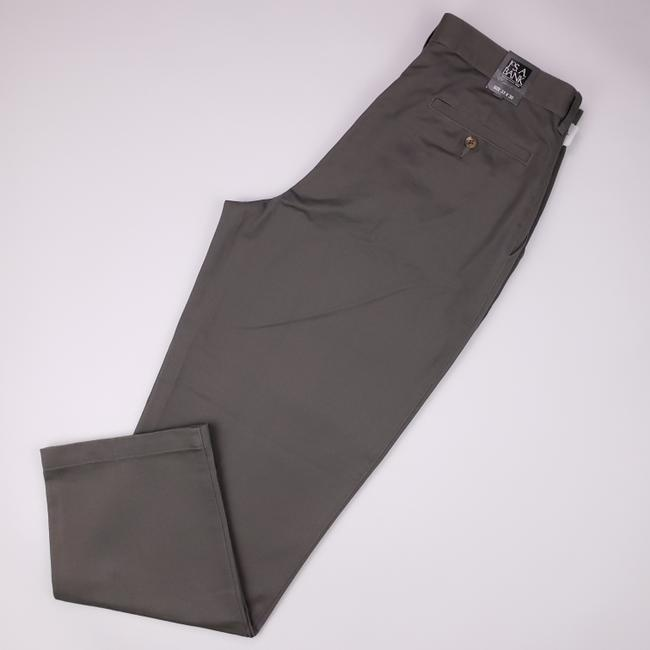 Item - Olive Taupe Jos Chinos 33x30 Green Flat Front Cotton Chino Pants Pant New N Shirt