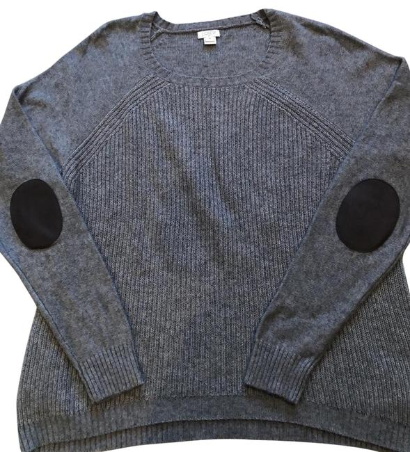 Item - Knitsweater With Grey/ Dark Brown Elbow Pads Sweater