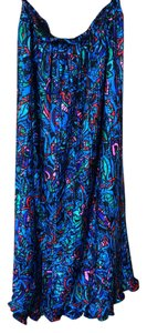 Diane von Furstenberg Skirt Blue red multi