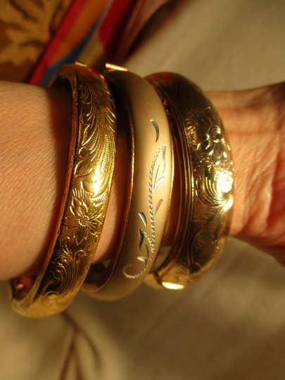 unknown etched bracelet lot