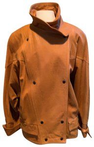 Maxima Tan Leather Jacket