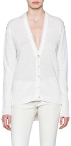 Brochu Walker Sweater Button Vince V Neck White Cardigan