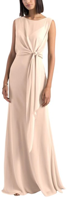 Item - Soft Blush Paltrow Overlay Chiffon Long Formal Dress Size 16 (XL, Plus 0x)