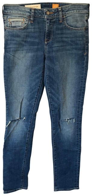 Item - Blue Pilcro The Stet Ripped Knee Skinny Jeans Size 4 (S, 27)