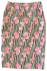 Tocca Skirt PINK AND BROWN